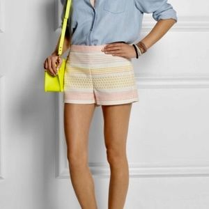 J. Crew Collection Neon Dot Jacquard Shorts NWT 8